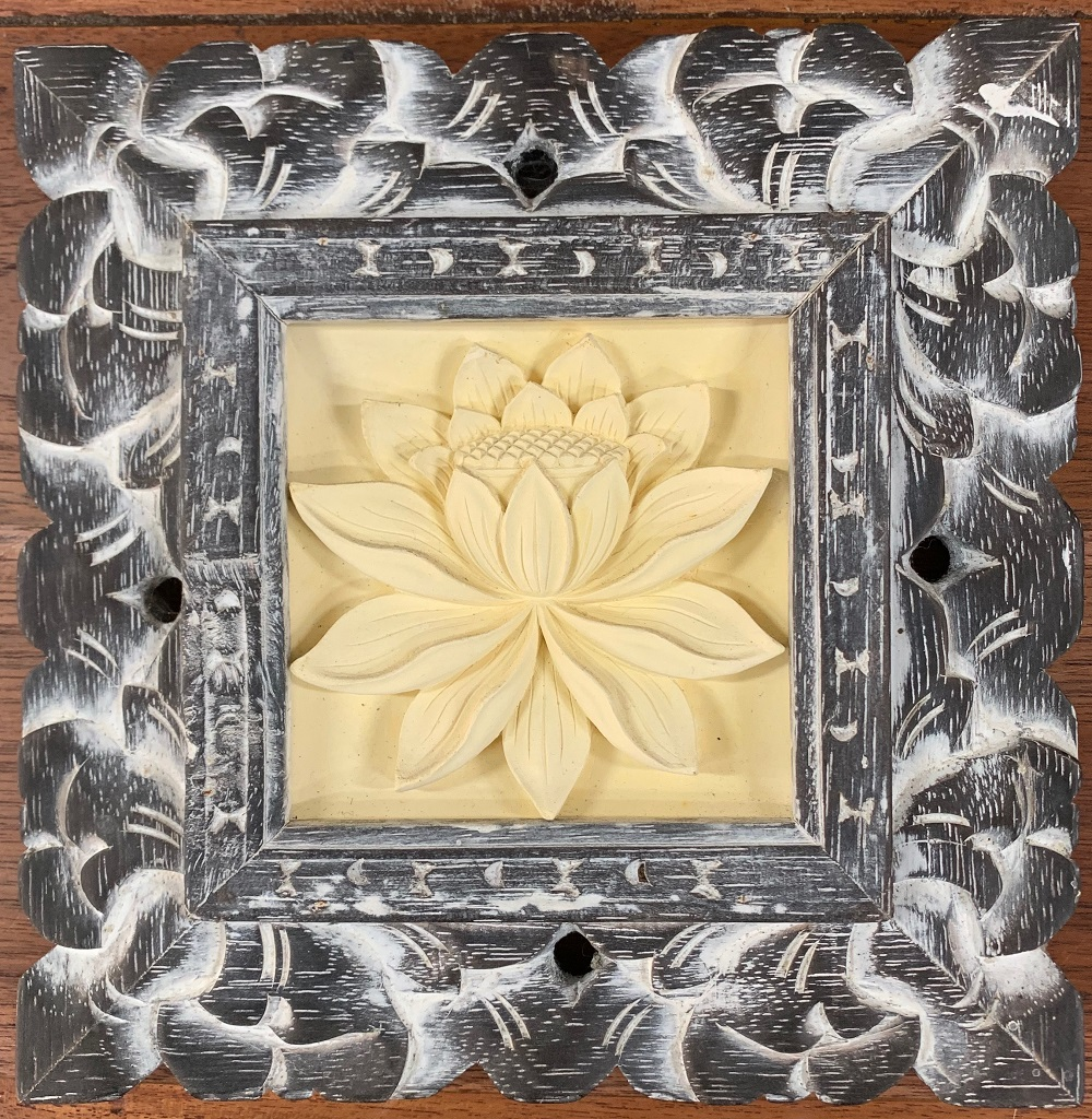 Carved Wood Frame Wall Plaque ⋆ That Bali Shop