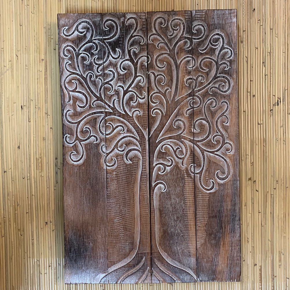 Tree Of Life Timber Hand Carved Panel ⋆ That Bali Shop